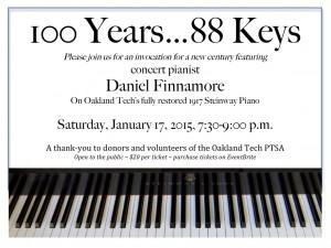 100 Years . . . 88 Keys @ Oakland Tech Auditorium | Oakland | California | United States