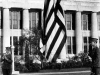 1929 B_ROTC cadets lowering flag on front lawn.jpg