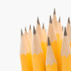 Close up of group of sharp pencils.
