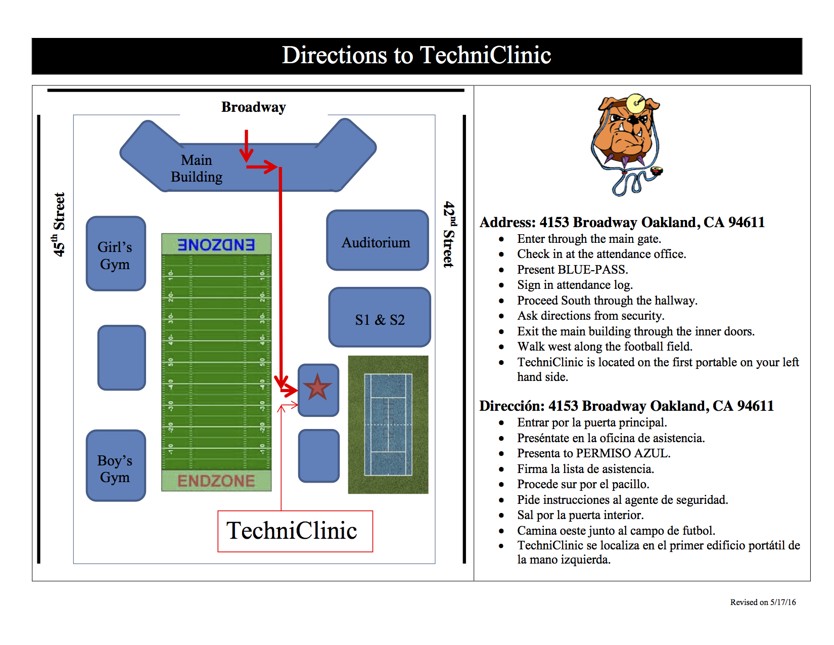 Directions to TechniClinic