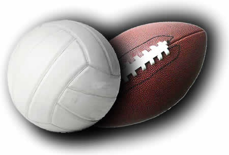 Image result for football & volleyball