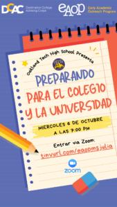 Preparando Para el Colegio y la Universidad