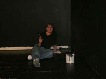 Ann painting Room A3 stage for website