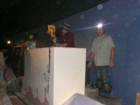 Mark & Brian doing demo on old booth for website