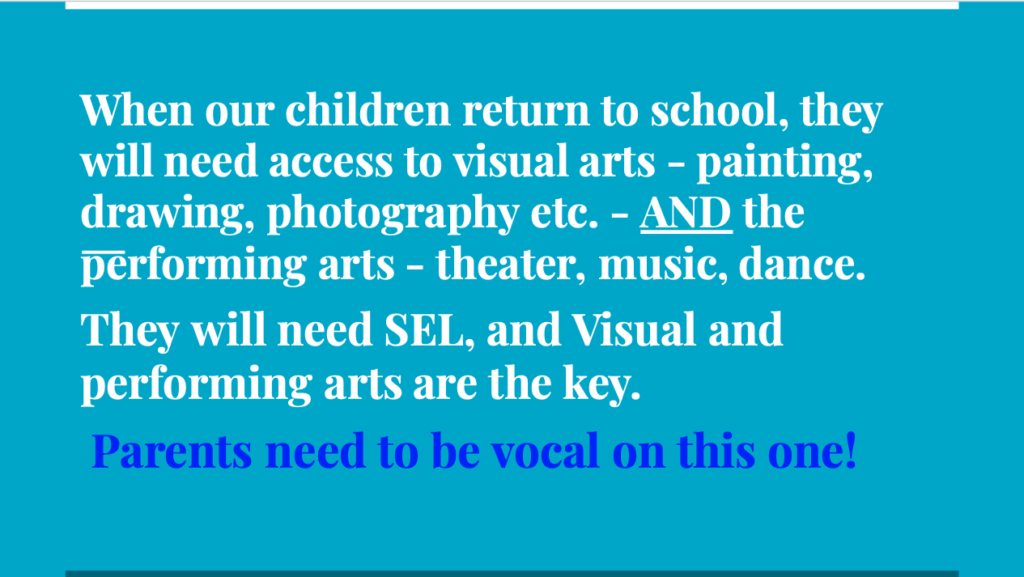 Performing and Visual Arts - A call for parents and community support