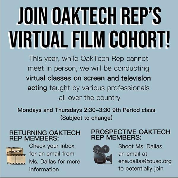 Drama - Join Oakland Tech Rep!